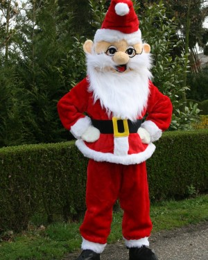 Kerstman mascotte Kerstmis